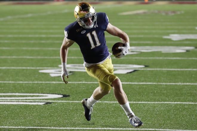 Notre Dame Fighting Irish football wide receiver Ben Skowronek