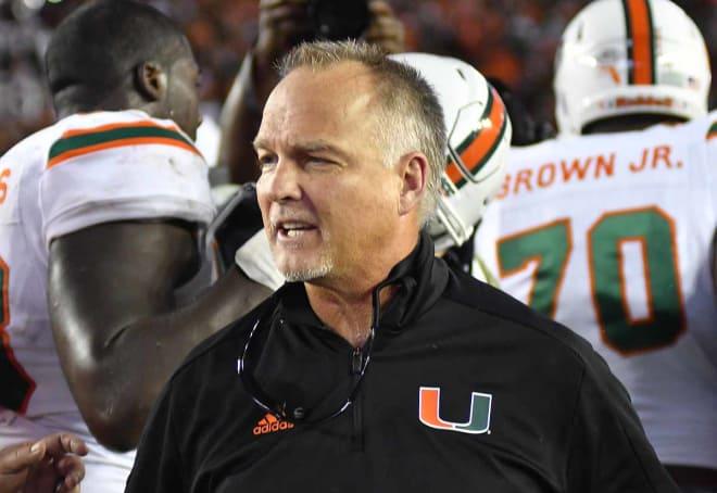 Miami coach Mark Richt