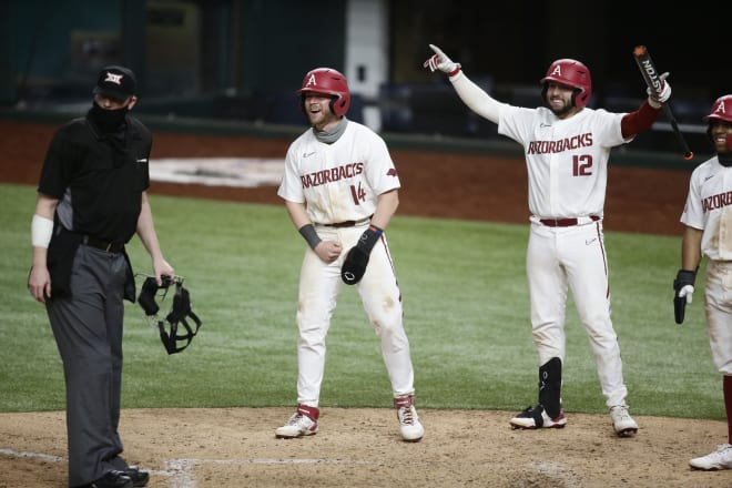 Arkansas wraps up its stay in Arlington, Texas, with a matchup against TCU.