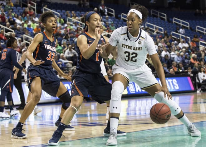 Forward Danielle Patterson plans to transfer at the end of the spring semester, leaving Notre Dame with eight scholarship players.