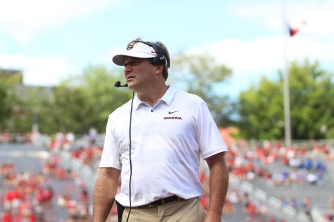 Kirby Smart and the Bulldogs begin spring practice on March 16.