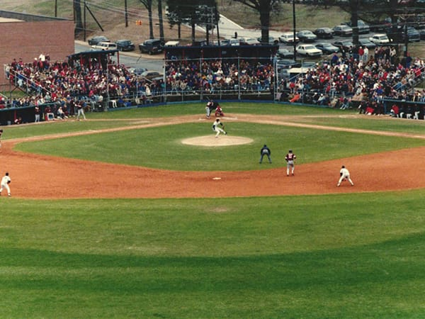 Old Swayze Field where The Pavilion at Ole Miss currently sits