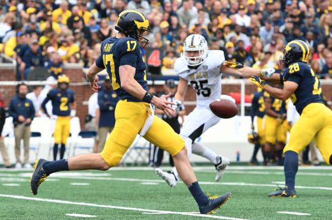 Former Michigan Wolverines punter Will Hart came to U-M as a walk-on.