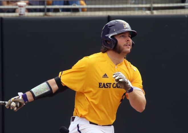 East Carolina junior Alec Burleson has earned first team All-America honors by Collegiate Baseball.