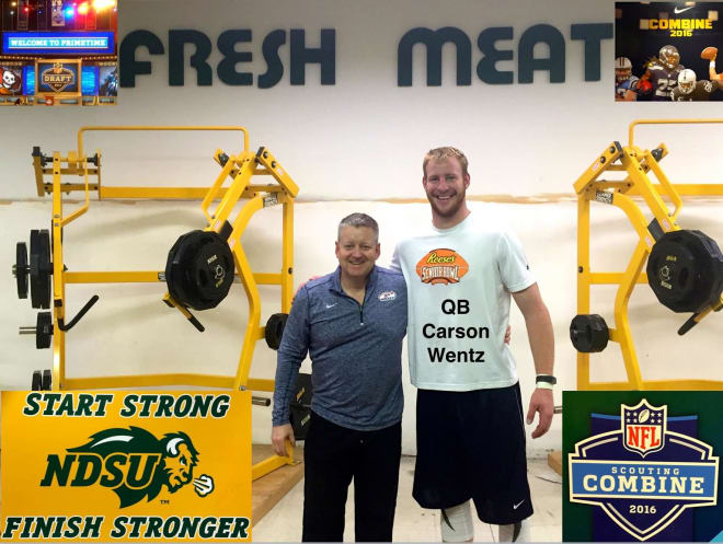 Ellis was a regular at places like North Dakota State where he worked closely with athletes like current Philadelphia Eagles quarterback Carson Wentz.