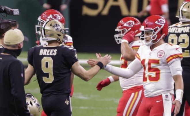 Drew Brees returned to action it a losing effort to Kansas City.