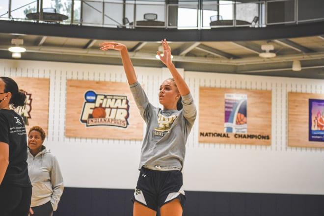 Notre Dame Fighting Irish women's basketball forward Natalija Marshall