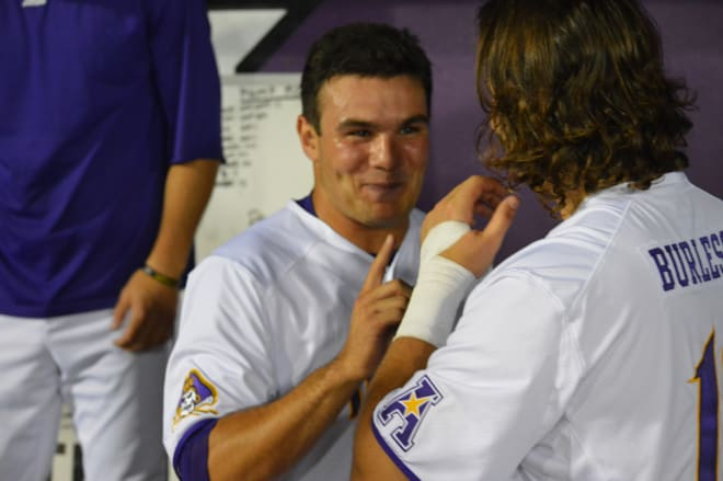 Jake Agnos broke the AAC and ECU record for strikeouts in a season Thursday night in a 19-10 win over Memphis.