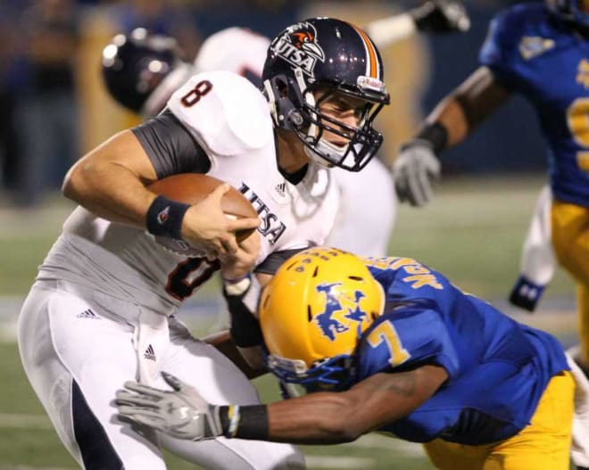 Eric Soza and the Roadrunner offense were unable to shake off four turnovers in the game against McNeese State