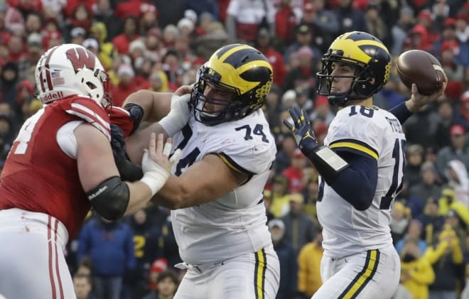 Michigan junior guard Ben Bredeson is expected to start again at left guard in 2018.