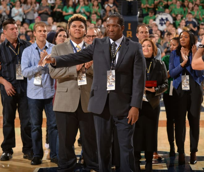 Rivers was inducted into Notre Dame's Ring of Honor this weekend.