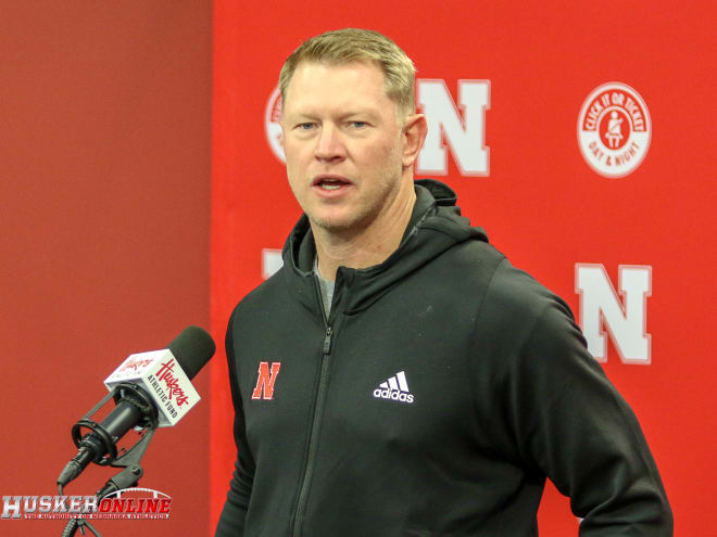 Nebraska head coach Scott Frost and his staff have daily meetings on Zoom right now.