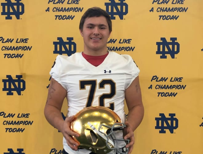 The Fighting Irish are a top school for the four-star recruit from Wisconsin.
