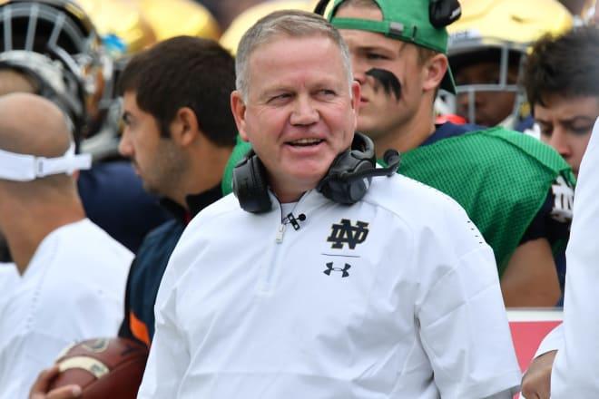 Notre Dame Fighting Irish football head coach Brian Kelly