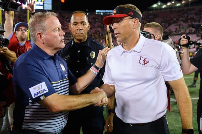 Brian Kelly's Irish defeated head coach Scott Satterfield's Cardinals 35-17 to open the 2019 season.