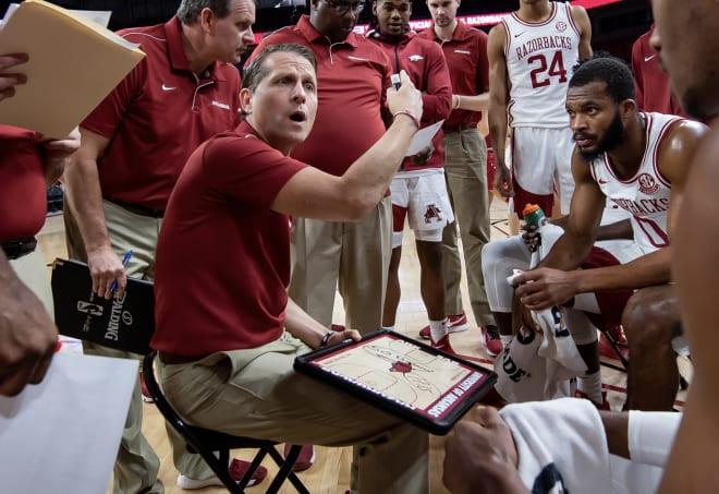 Eric Musselman is entering his second season as Arkansas' head coach.
