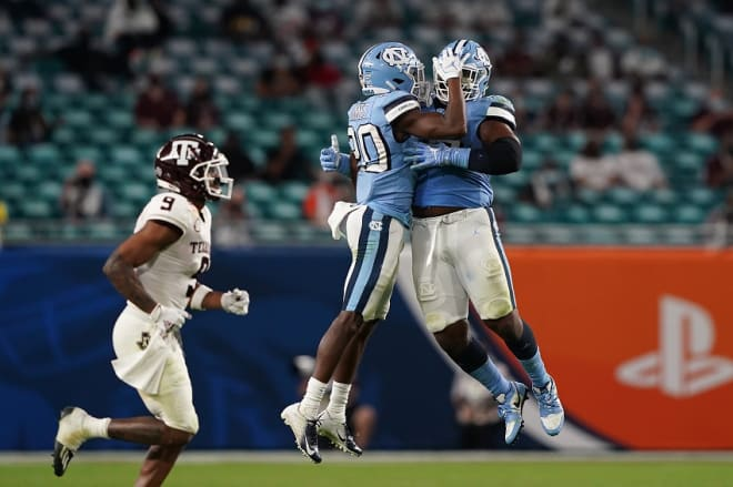 Grimes' play in the Orange Bowl had him and the rest of the Heels excited.