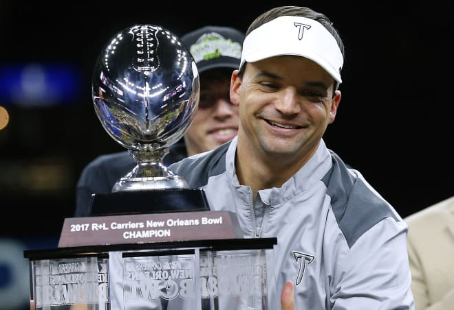 Troy head coach Neal Brown is sure to be up for some bigger Power 5 jobs in the near future.