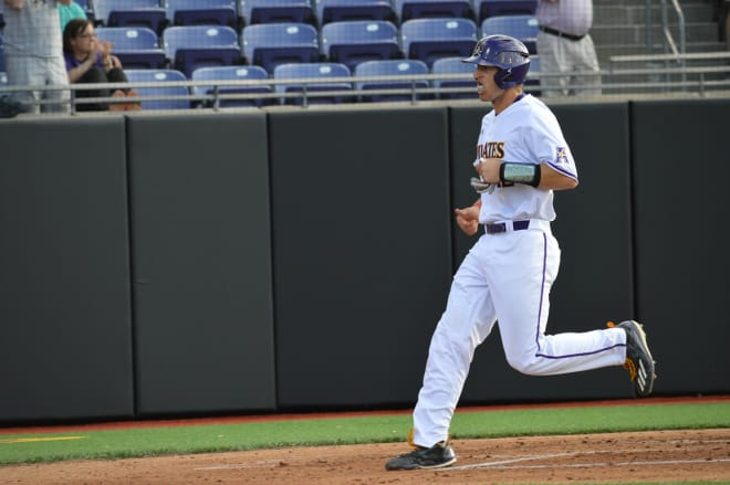 Spencer Brickhouse knocked a pair of home runs in ECU's Friday night victory over Memphis.