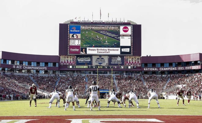 Football is back in Doak Campbell Stadium. The Seminoles host the Tar Heels today at 7:30 p.m. ET