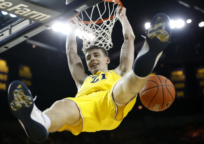 Michigan Wolverines basketball sophomore wing Franz Wagner landed on the Big Ten All-Freshman team last season.