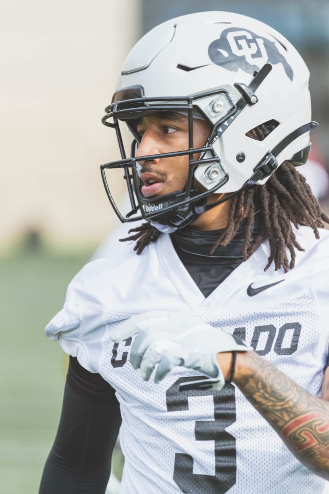 Senior safety Derrion Rakestraw, Colorado's lone senior within the DBs corps