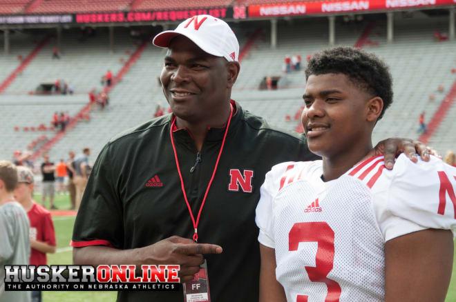 Keyshawn Johnson Jr. and Sr.