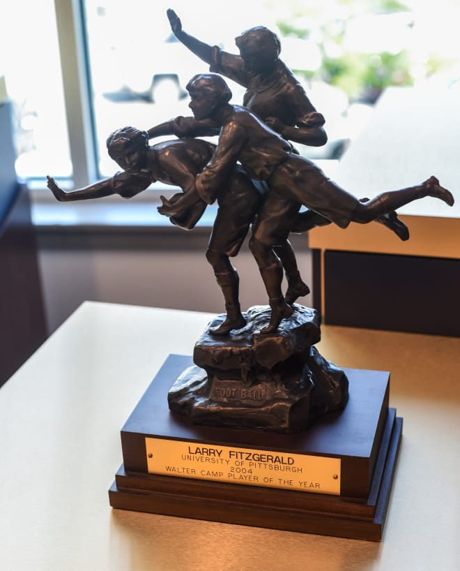 Larry Fitzgerald's Walter Camp trophy