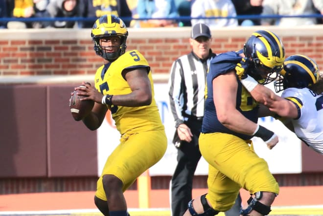 Michigan Wolverines football quarterback Joe Milton is taking over the starting duties.