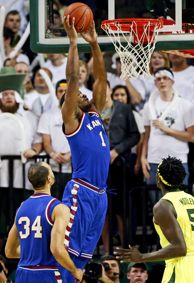 Wayne Selden, Jr., with the two-handed dunk