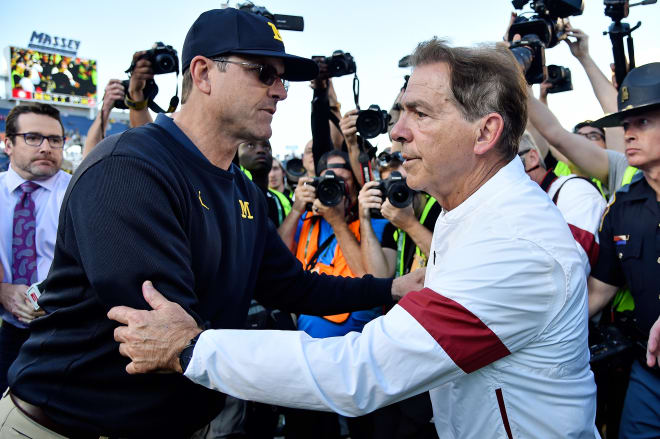 Alabama coach Nick Saban will reunite with his players a little early this season (Jasen Vinlove-USA TODAY Sports).