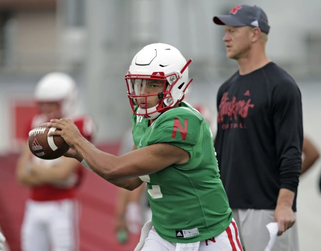 Head coach Scott Frost had no announcement on Nebraska's quarterback battle on Friday, but said an announcement would be coming this weekend.