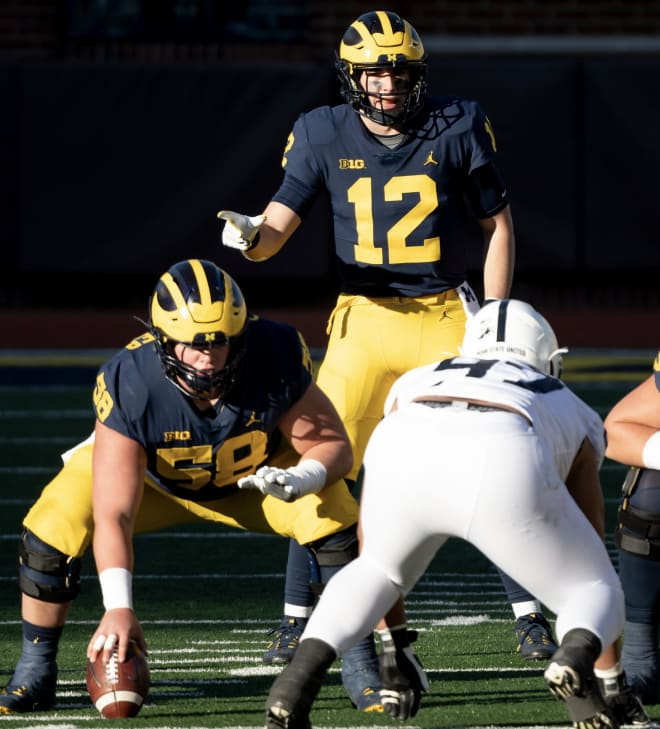 Former Michigan Wolverines football center Zach Carpenter was rated as a three-star prospect out of high school.