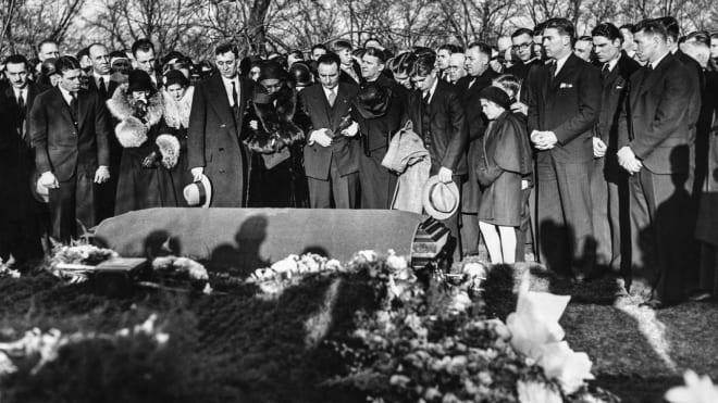 Notre Dame Fighting Irish football head coach Knute Rockne's funeral