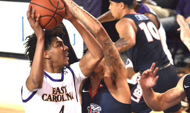 East Carolina will take on Liberty in the Basketball Hall of Fame Shootout in mid-November in Charlotte.