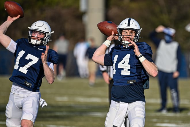 The process for establishing a more coherent and successful passing game has resumed at Penn State this spring.