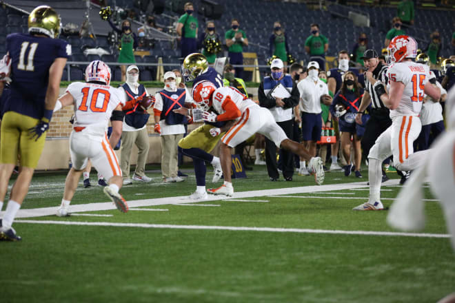The game against Clemson at Notre Dame Cathedral on November 7, 2020