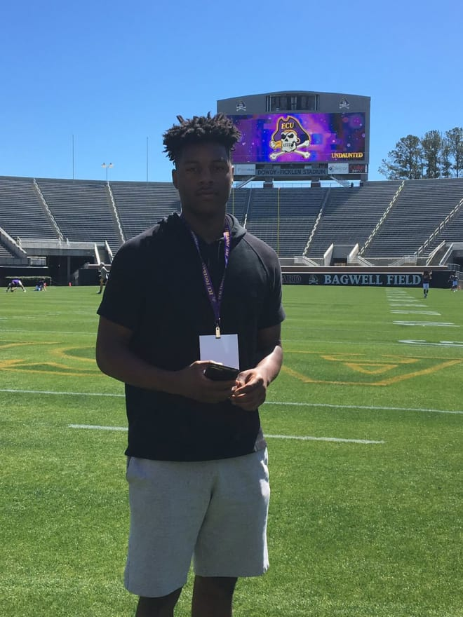 Greensboro Dudley Safety Myles Berry made his verbal commitment to the Pirates Monday night.