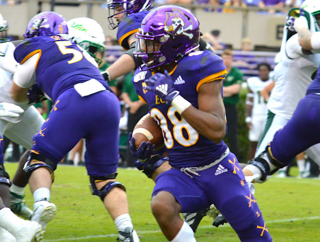 ECU receiver Jai Hatfield is expected to make his return when the Pirates host Navy this Saturday on ESPN2.