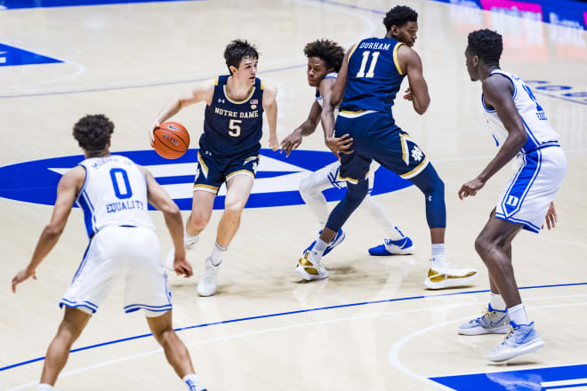 Notre Dame Fighting Irish men's basketball junior guard Cormac Ryan