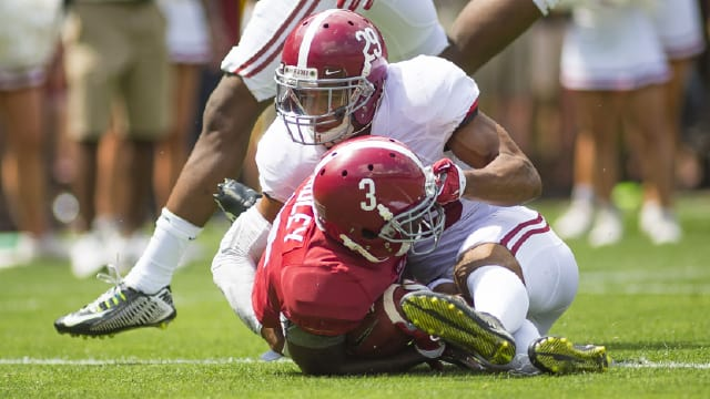 Alabama defensive back Minkah Fitzpatrick had a team-high six interceptions last season. Photo | Laura Chramer