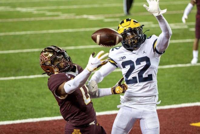 Michigan Wolverines football cornerback Gemon Green has started all four games this season.