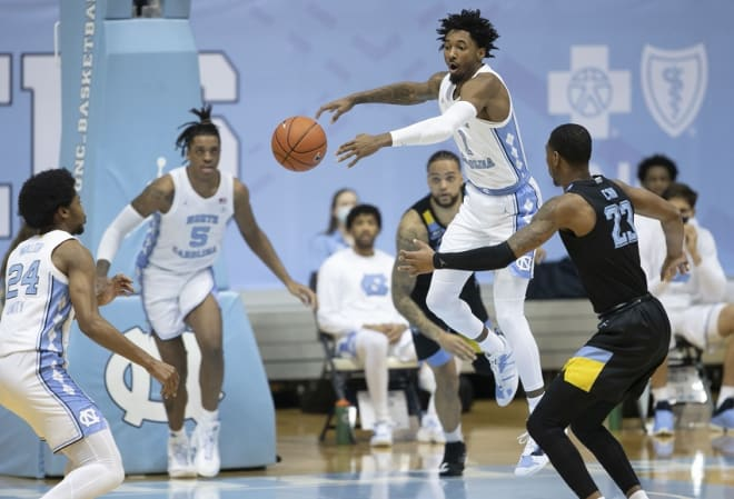 The Tar Heels trailed by as many as 18 points in the first half.