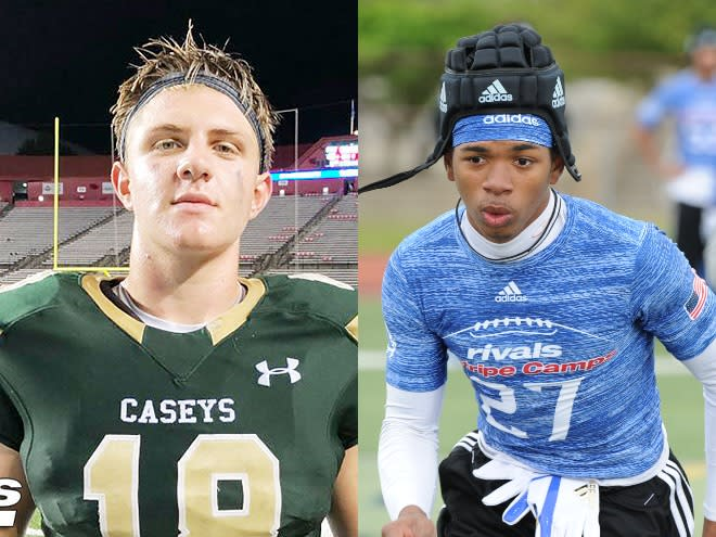 Notre Dame commits Kevin Bauman (left) and Clarence Lewis (right) face off in the playoffs this Saturday.