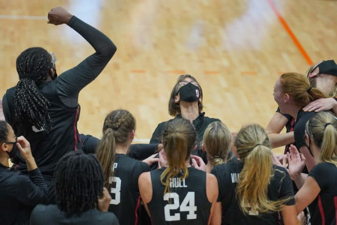 Tara VanDerveer (pictured here when she set the record for most career wins) and Stanford received the commitment of Lauren Betts Wednesday, the No. 1 junior recruit.