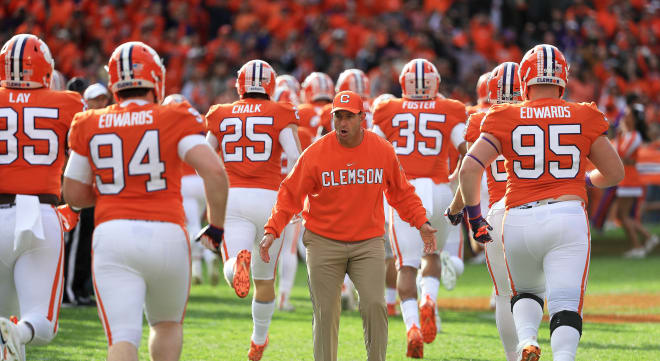 Clemson will draw a BYE week before facing rival South Carolina in Columbia on November 30.