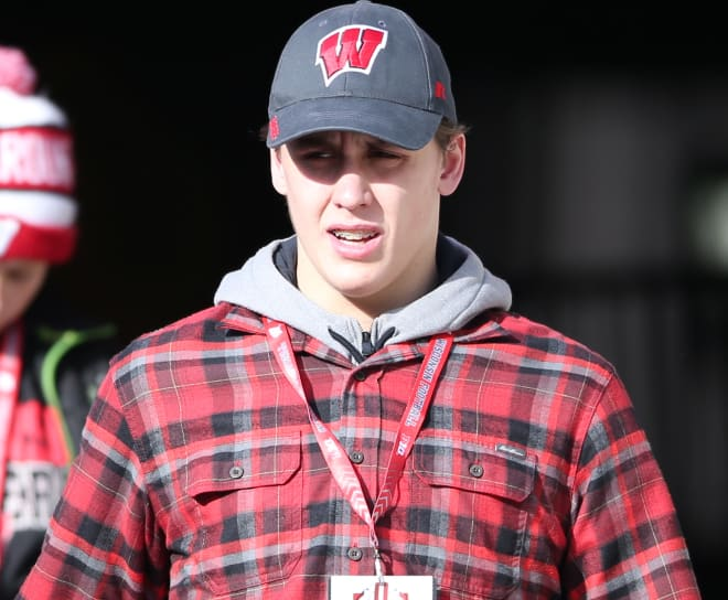 Two-star offensive tackle Barrett Nelson committed to Wisconsin in June.