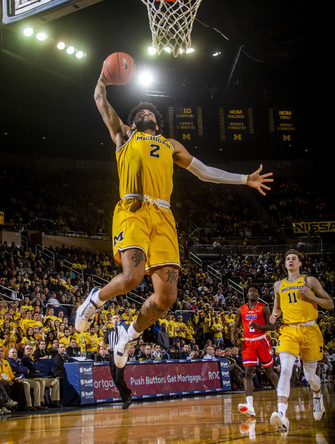 Michigan Wolverines junior forward Isaiah Livers set a career-high 24 points in the win over Houston Baptist.