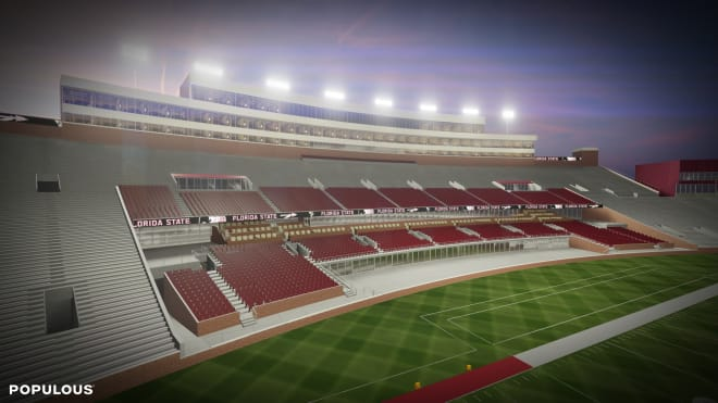 Proposed additions to the west stands, include chairback seats, loge boxes and field-level club suites.
