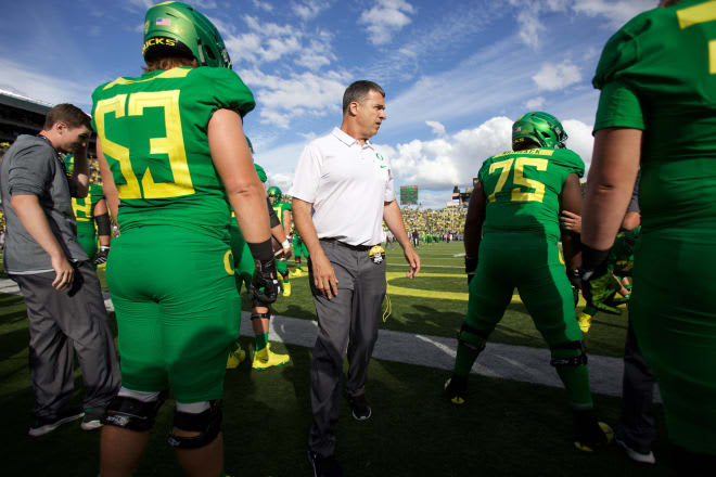 Mario Cristobal's vision for the Ducks starts with a physical, dominating offensive line. In 2018 that vision produced 9 wins but uneven performance from a still-developing group.